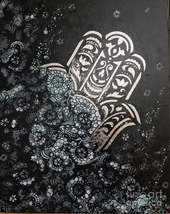 Silver Hamsa  by Hila Abada