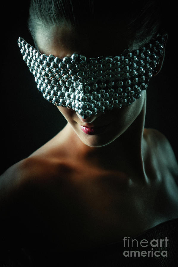 Silver Mask Silver Chrome Metal Masquerade Eye Mask by Dimitar Hristov