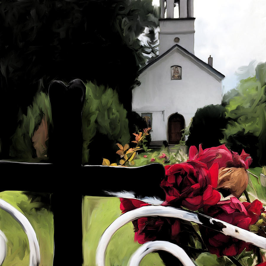 Simeonovo Church and Roses by Jonathan Thompson