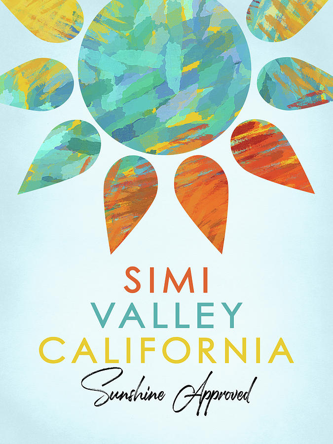 Simi Valley Digital Art - Simi Valley California Sunshine by Flo Karp