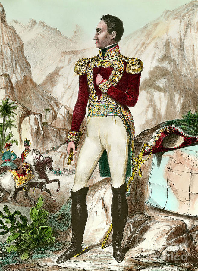 Military Painting - Simon Bolivar 1783-1830 by European School