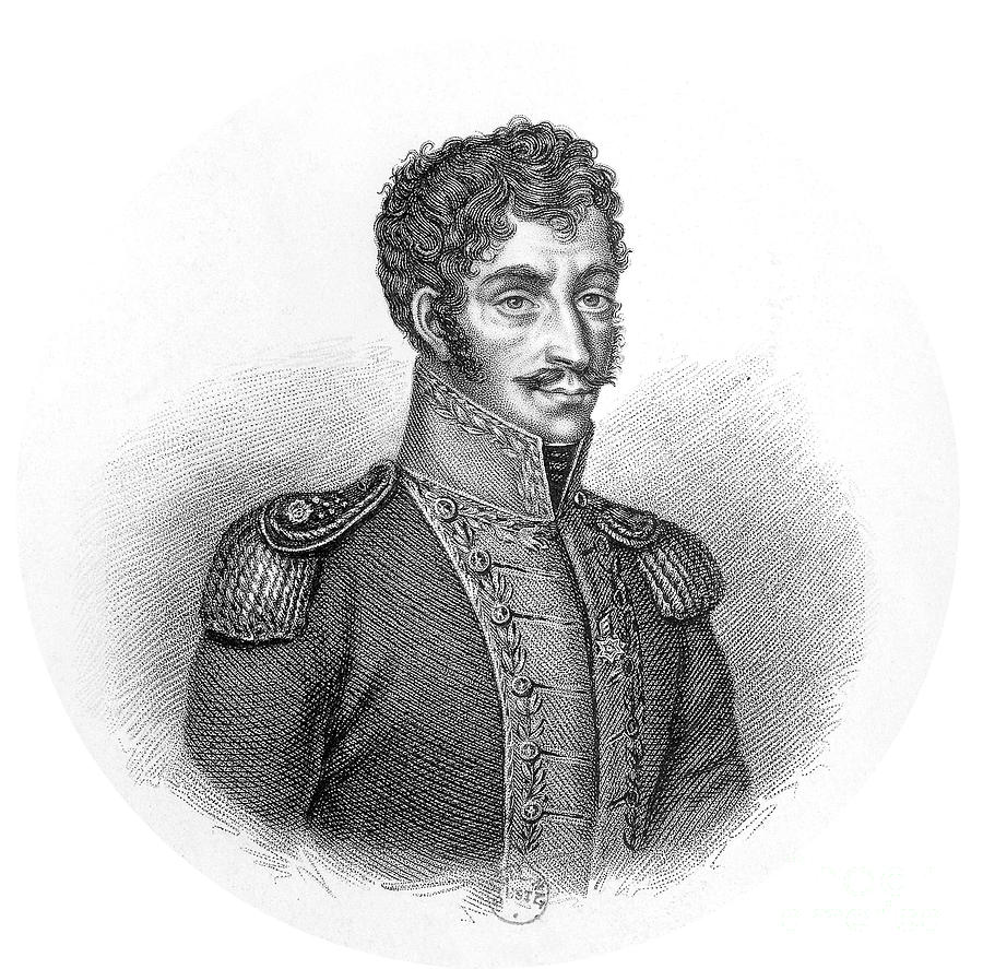 Engraving Drawing - Simon Bolivar Venezuelan Statesman, Soldier, And Revolutionary Leader by European School