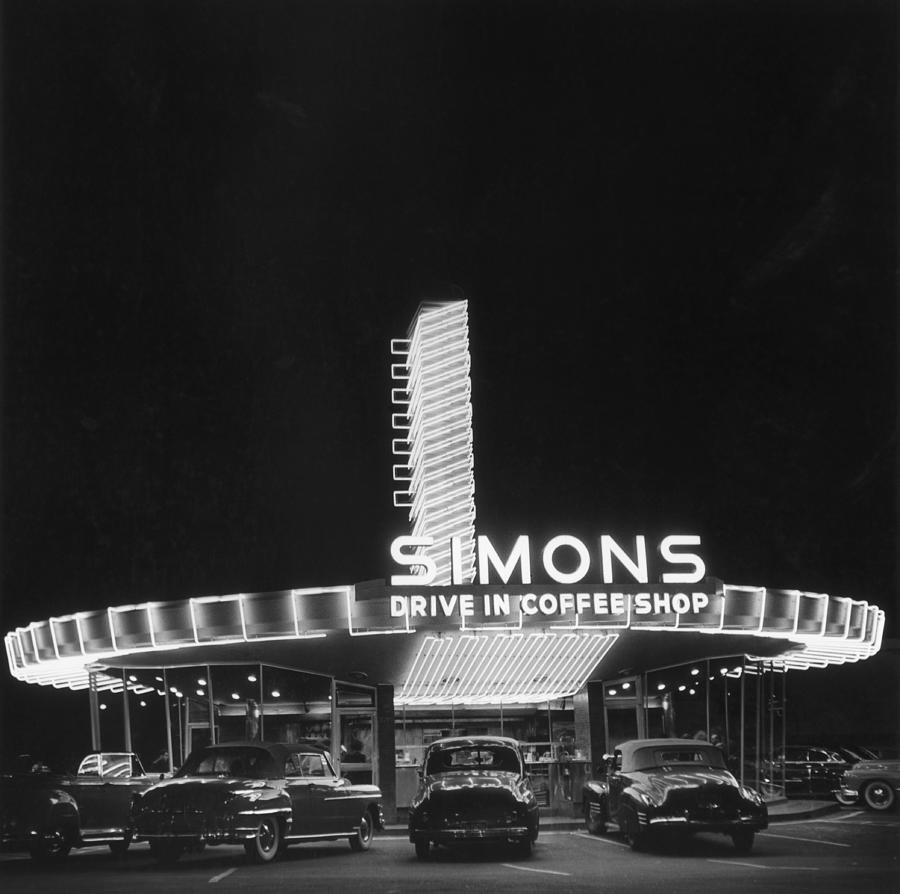 Simons Drive-in Restaurant Photograph by Michael Ochs Archives