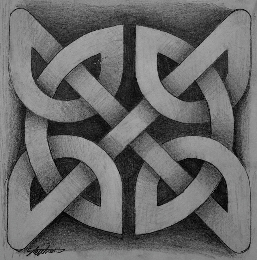 Simple Celtic Knot Drawing 4