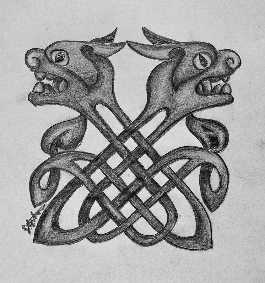 Simple Celtic Knot Drawing 5 by Stephen Humphries
