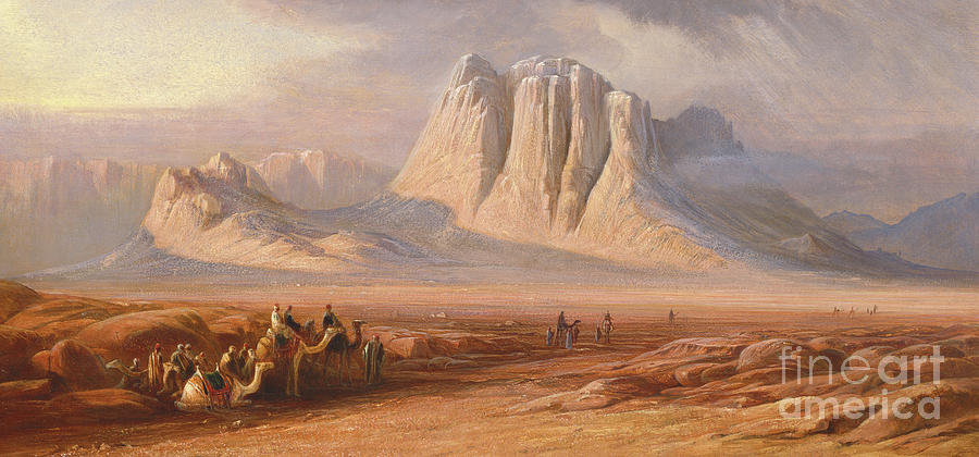 Sinai Painting - Sinai by Edward Lear