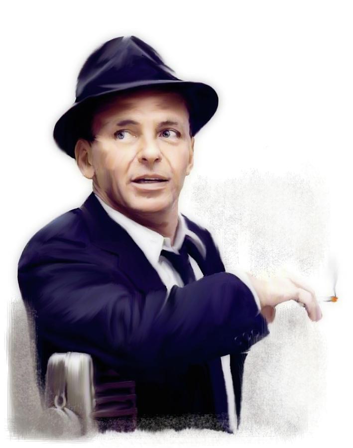 Frank Sinatra Painting - Frank Sinatra Sinatra by Iconic Images Art Gallery David Pucciarelli