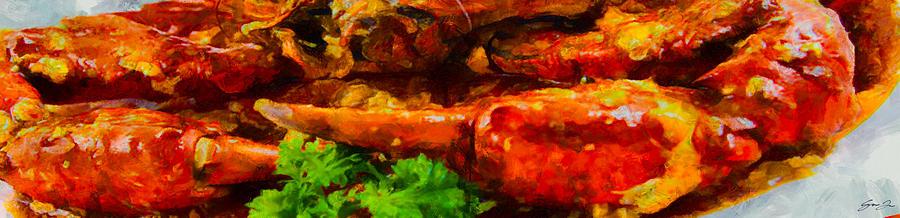 Singapore chili crab by DAWEArt