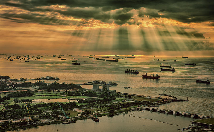 Singapore Harbour by Chris Cousins