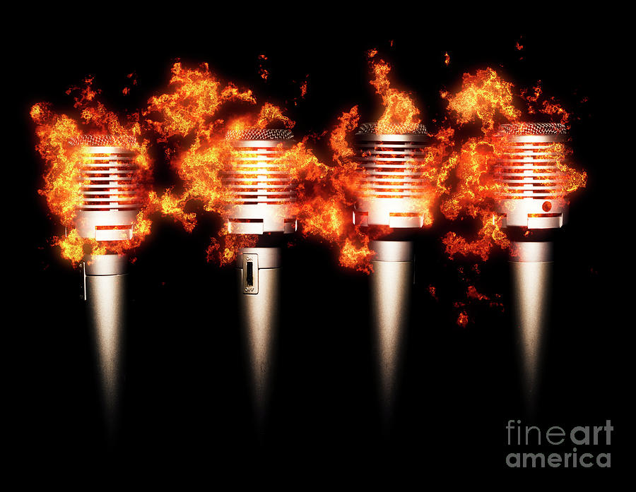 Fire Photograph - Singeing Stage Show by Jorgo Photography - Wall Art Gallery