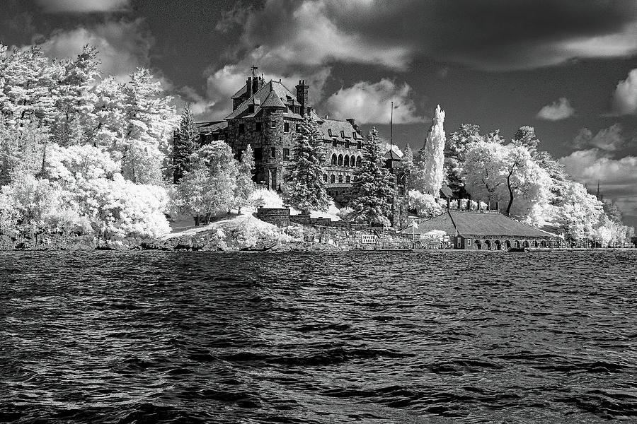 Singer Castle In Black And White by Tom Singleton