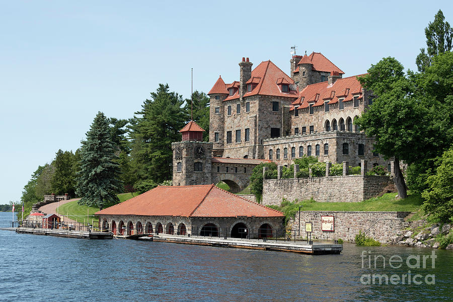 Singer Castle on Dark Island in the St Lawrence River Thousand Islands by Louise Heusinkveld