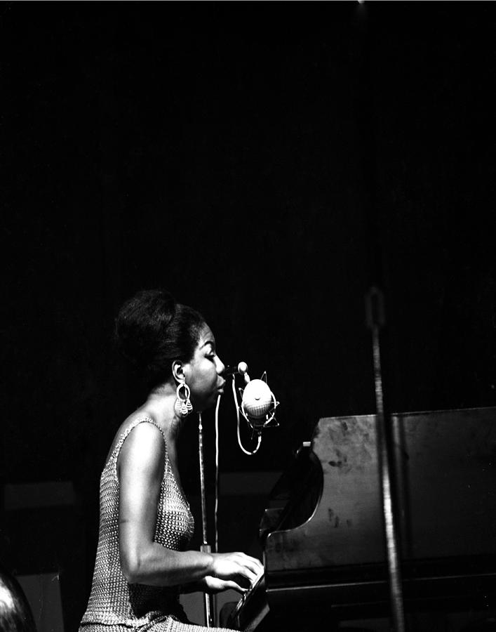 Singer Nina Simone Performs At The Jazz Photograph by New York Daily News Archive