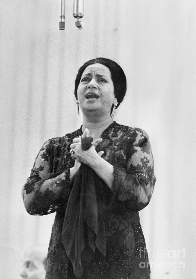 Singer Om Kalsoum Photograph by Bettmann
