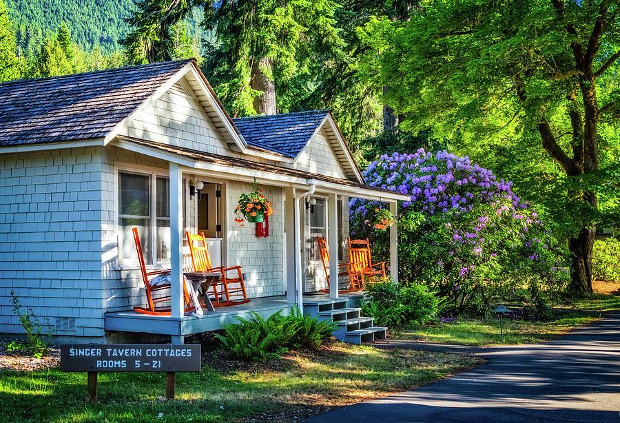 Singer Tavern Cottages at Lake Crescent by Carolyn Derstine