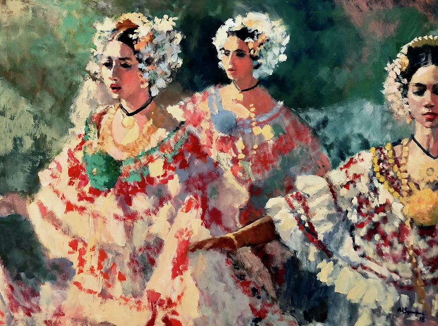 Panama Painting - Singing And Dancing by Al Sprague