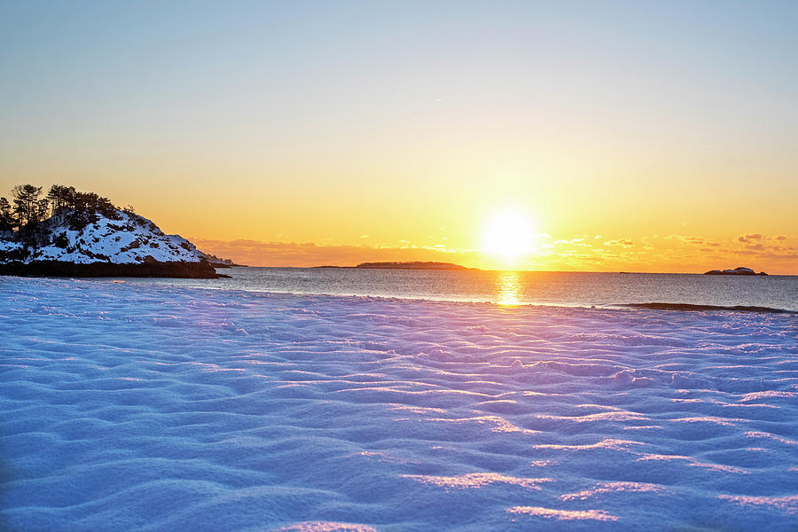 Singing Beach covered in snow Ipswitch MA by Toby McGuire