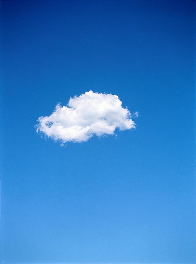 Single Altocumulus Cloud In Blue Sky Photograph by Stuart Westmorland