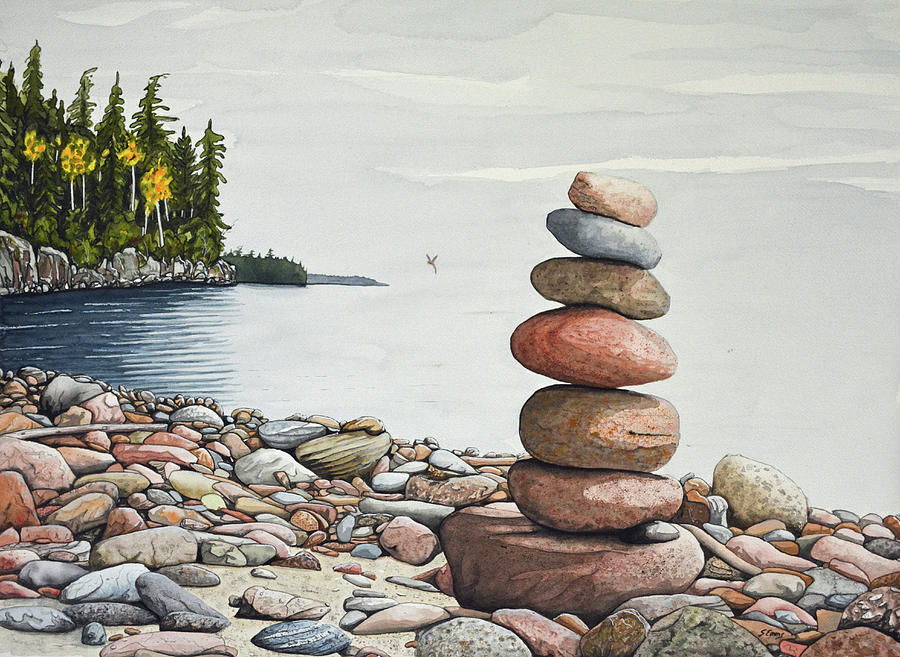 Single Balance Rock Painting By Stephen Emms