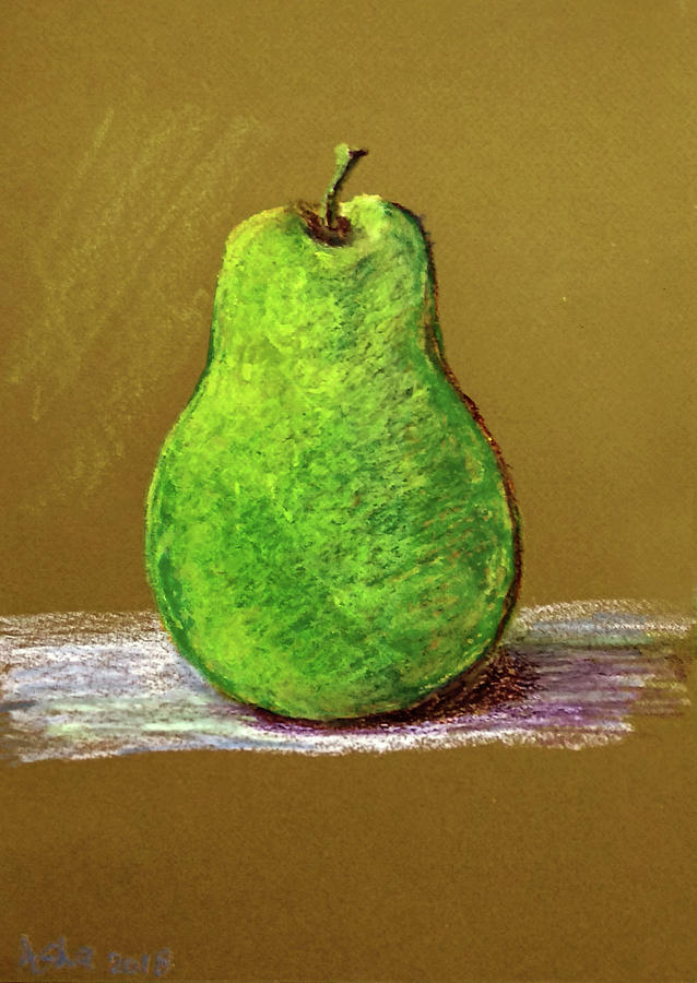 Single pear by Asha Sudhaker Shenoy
