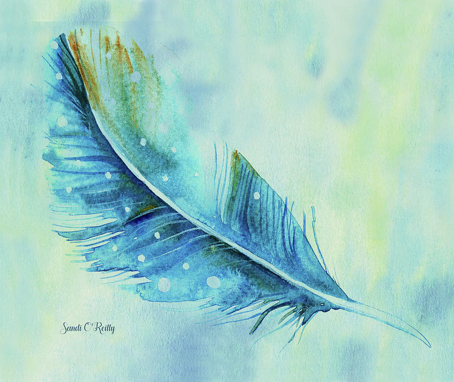 Shades of Blue Feather by Sandi OReilly