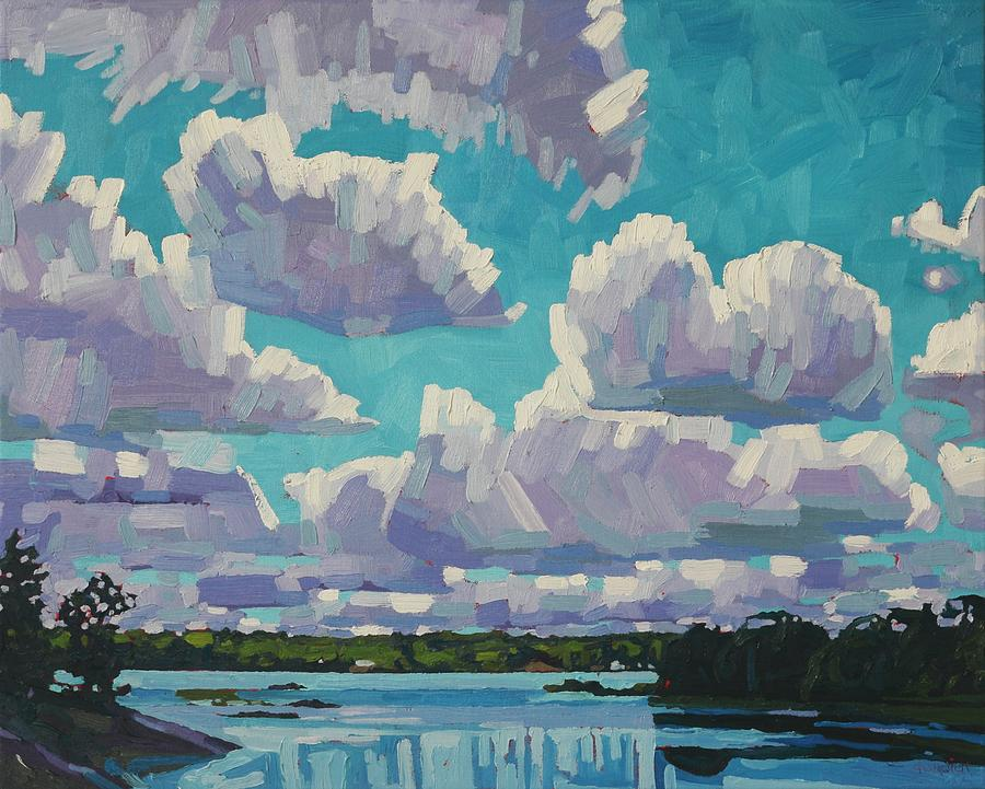 Singleton Summer Clouds by Phil Chadwick