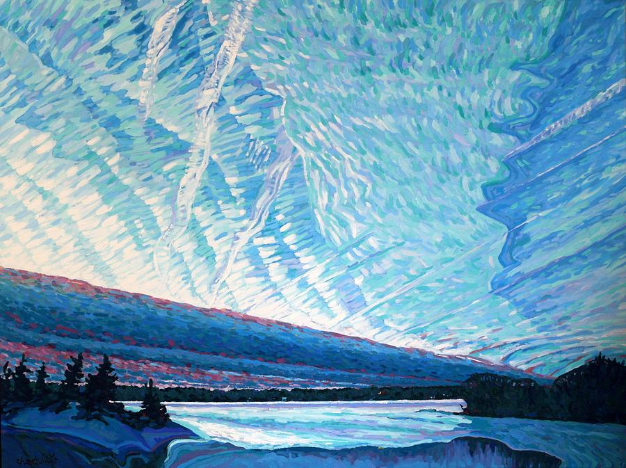 23rd Century Painting - Singleton Winter Contrails Cirrus And Deformation by Phil Chadwick