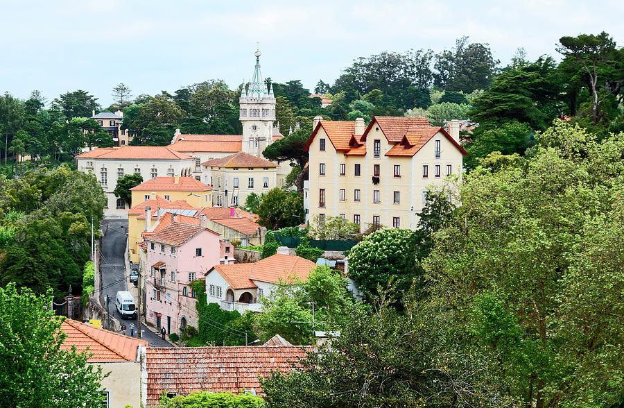 Old Buildings Photograph - Sintra Portugal by Sally Weigand