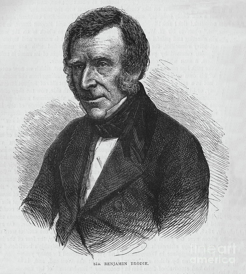 Sir Benjamin Brodie, English Doctor Drawing by Print Collector