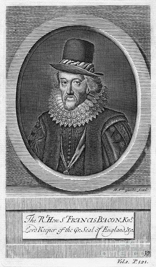 Sir Francis Bacon, Viscount St Albans Drawing by Print Collector