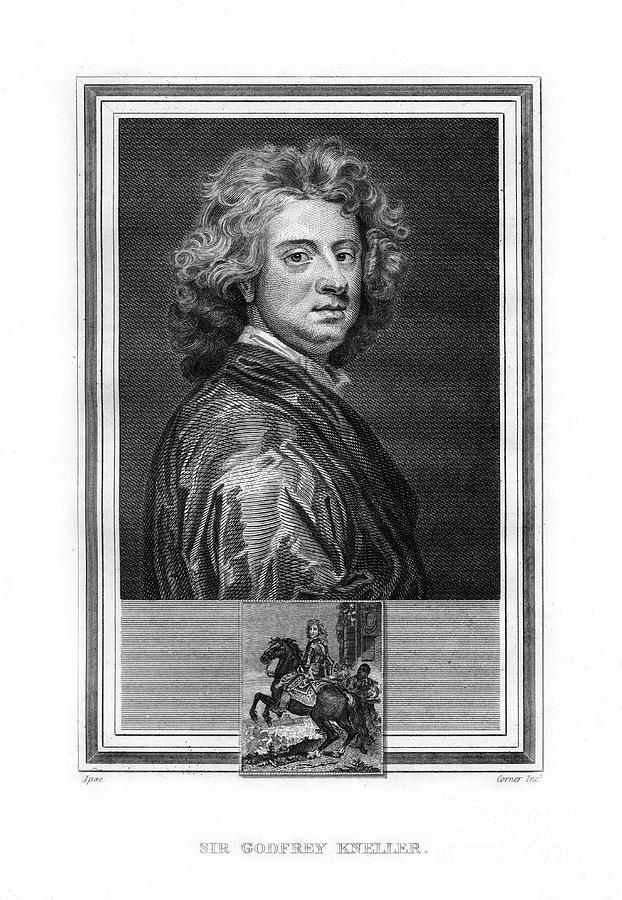 Sir Godfrey Kneller, German-born Drawing by Print Collector