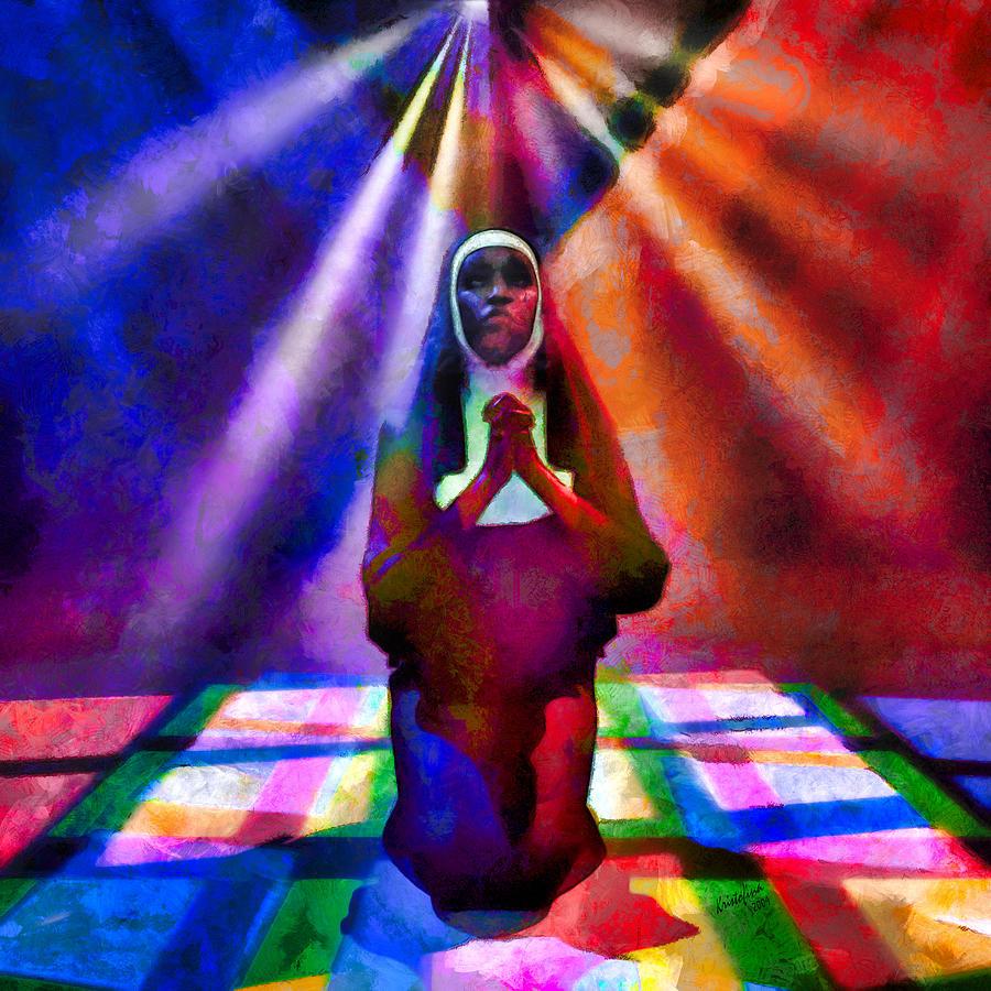 Sister Agetta Prays by Kristofina Kapewangolo