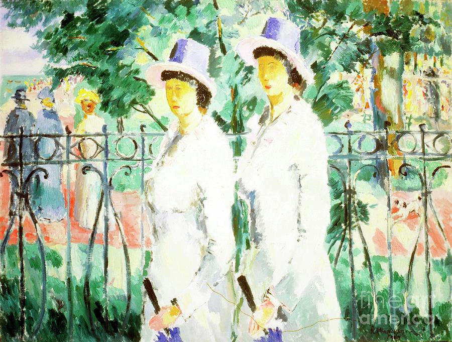 Sisters, 1910. Artist Kazimir Malevich Drawing by Heritage Images