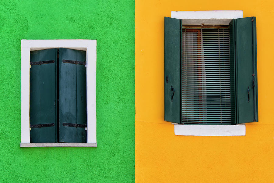 Sisters Windows, Burano, Italy Photograph by Stefan Cioata