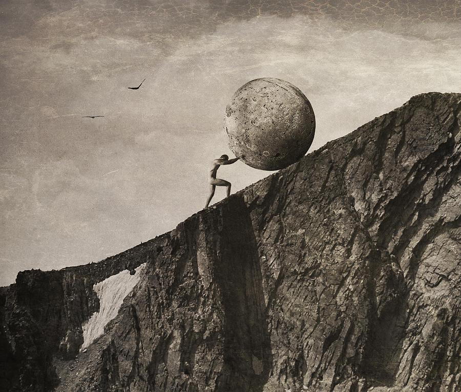 Mythology Photograph - Sisyphus by Jeffrey Hummel