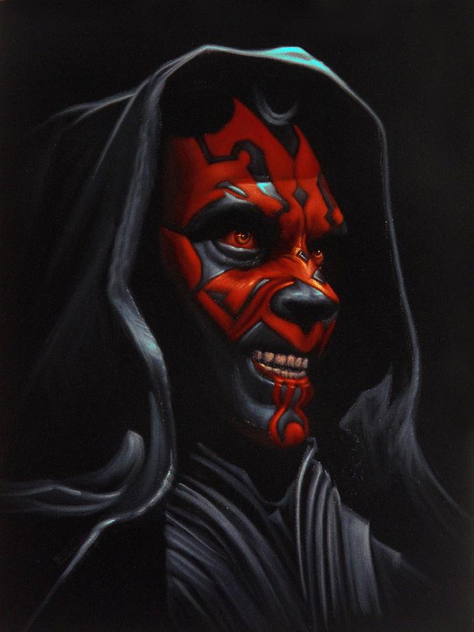 Sith Painting - Sith Darth Maul Star Wars Phantom Menace Version 2 by Arturo Ramirez