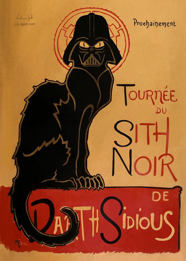 Sith Noir De Paris Digital Art