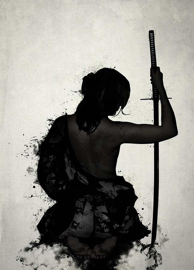 Female Digital Art - Female Samurai - Onna Bugeisha by Nicklas Gustafsson