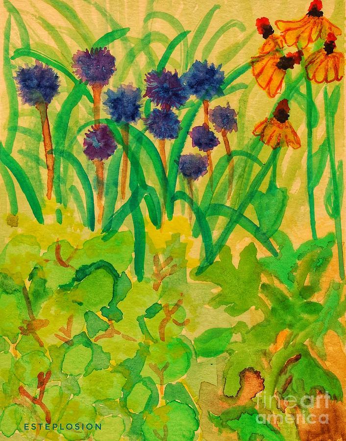 Sitting in the Garden by EstePlosion Art