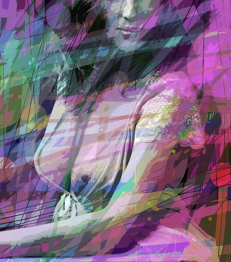 SITTING NUDE DRAPED by David Lloyd Glover