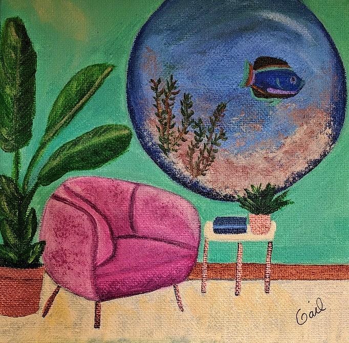 Sitting room chair by Gail Friedman