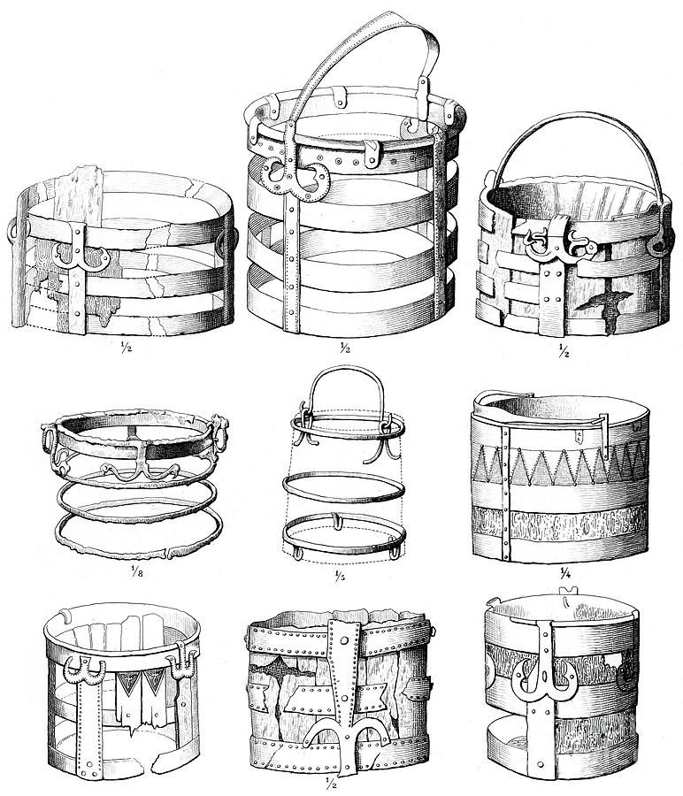 Situla Or Buckets, 1893. Artist Drawing by Print Collector