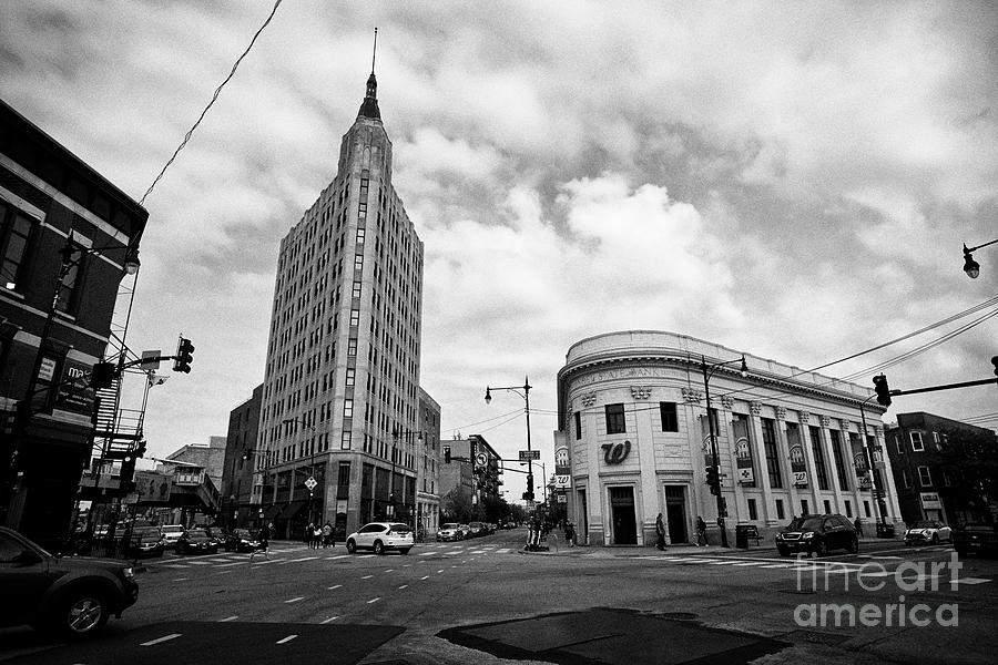 Chicago Photograph - six corners intersection of milwaukee north and damen in wicker park Chicago IL USA by Joe Fox