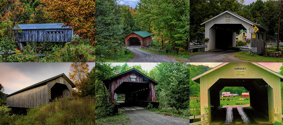 Six Covered Bridges of Montgomery Vermont by Jeff Folger
