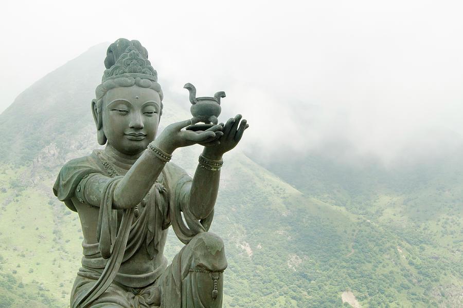Six Devas Outside The Giant Buddha Photograph by Yuenwu