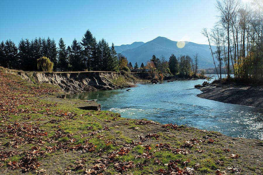 Skagit River at Lyman Slough by Tom Cochran