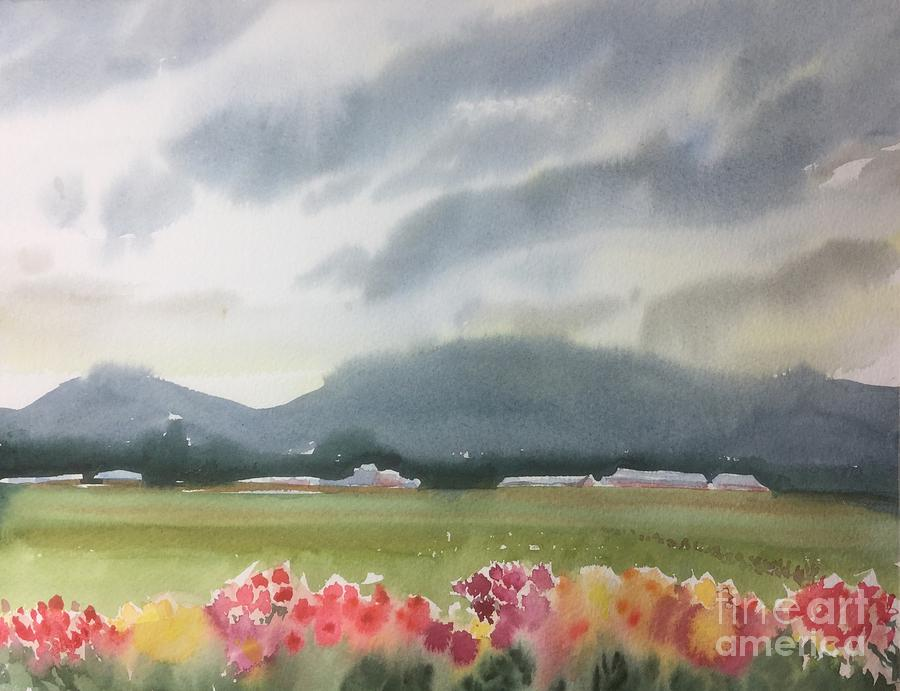 Skagit Valley Dahlias Painting by Yohana Knobloch