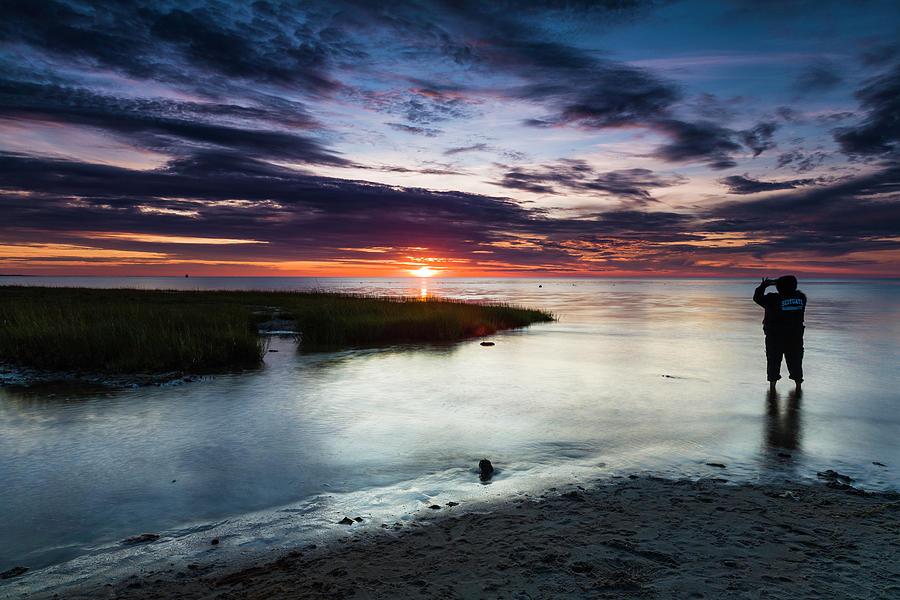 Skaket Beach Sunset by Fran Gallogly