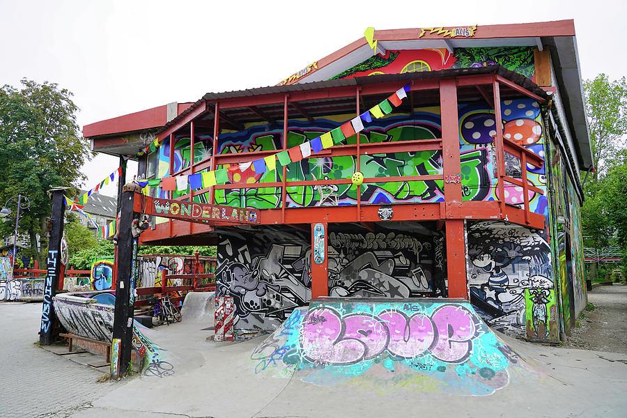 Skateboard Park In Freetown Christiania by Richard Rosenshein