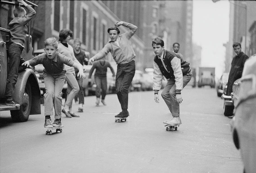 Skateboarding In Nyc Photograph by Bill Eppridge